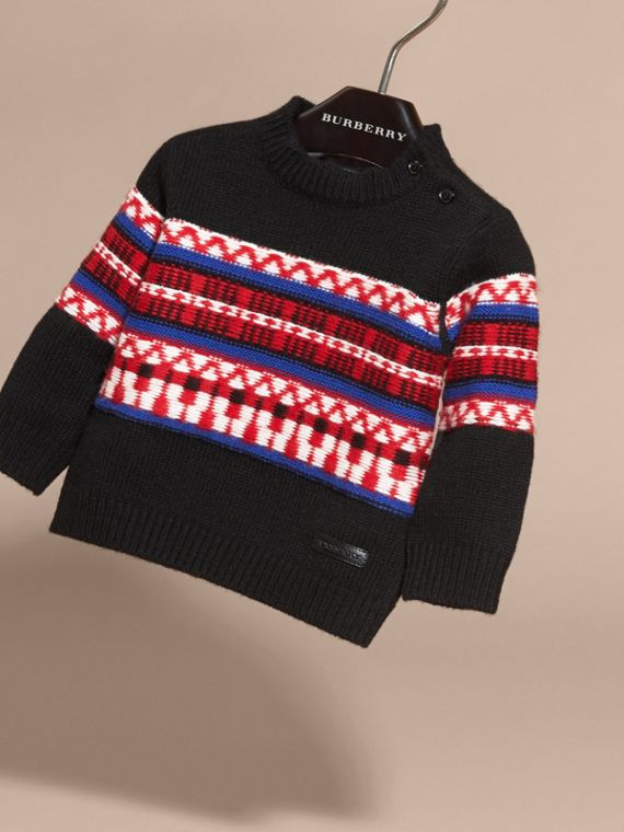 Parade red Fair Isle Wool Cashmere Sweater - cell image 2
