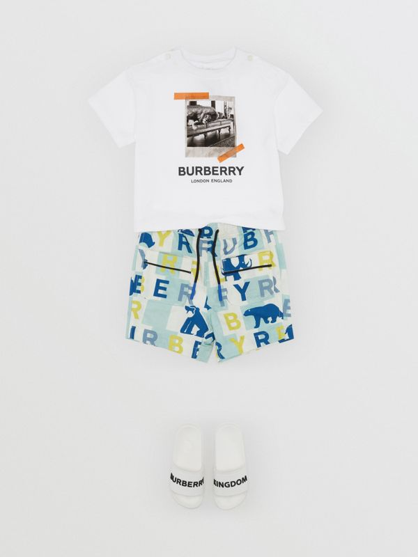 Vintage Polaroid Print Cotton T-shirt in White - Children | Burberry Australia - cell image 3
