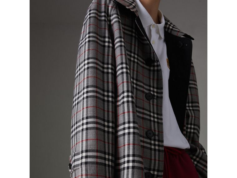 Reissued Reversible Car Coat in Black - Women | Burberry - cell image 1