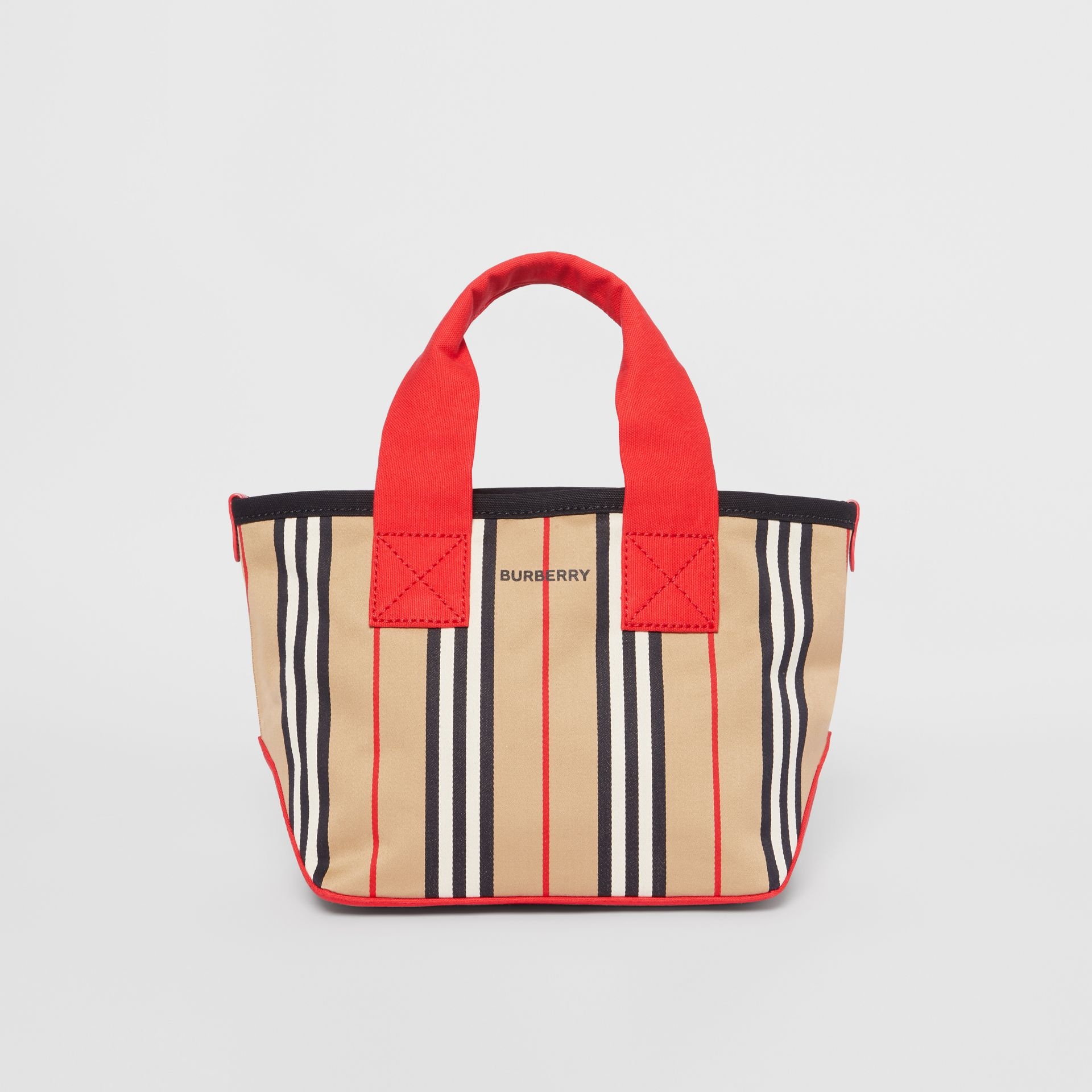 Icon Stripe Cotton Tote Bag in Honey - Children | Burberry United Kingdom - gallery image 0
