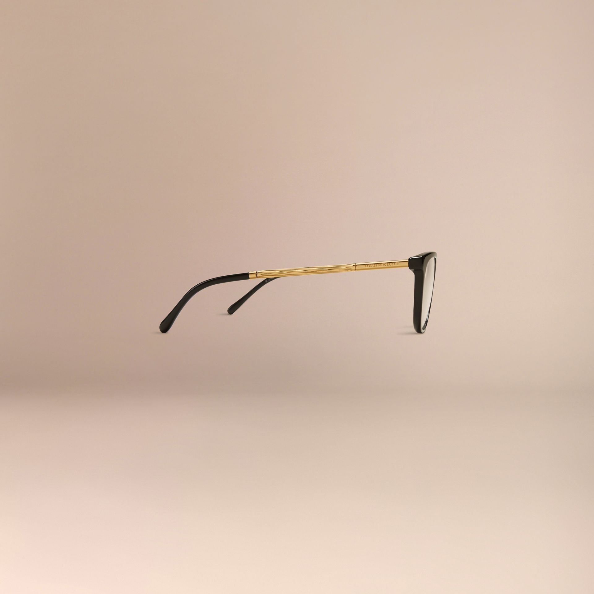 Black Gabardine Collection Cat-Eye Optical Frames Black - gallery image 5