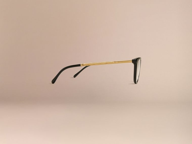 Black Gabardine Collection Cat-Eye Optical Frames Black - cell image 4