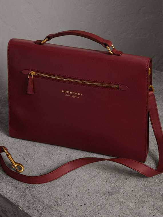 The Large DK88 Document Case in Antique Red - Men | Burberry - cell image 2