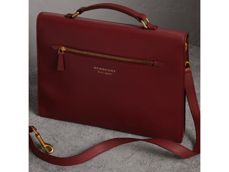 The Large DK88 Document Case in Antique Red - Men | Burberry - cell image 4