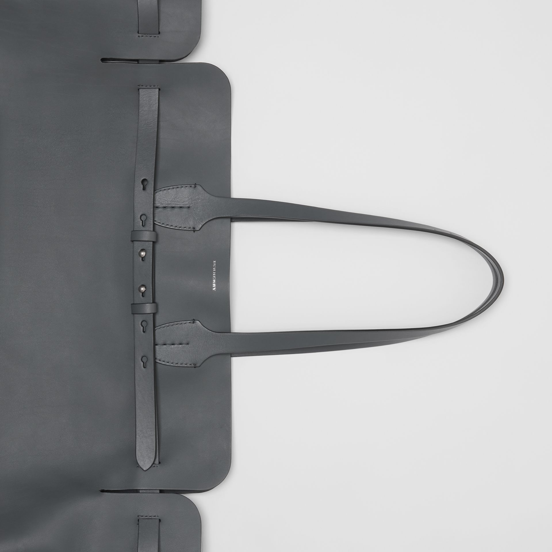 The Large Soft Leather Belt Bag in Dark Pewter Grey - Women | Burberry - gallery image 1