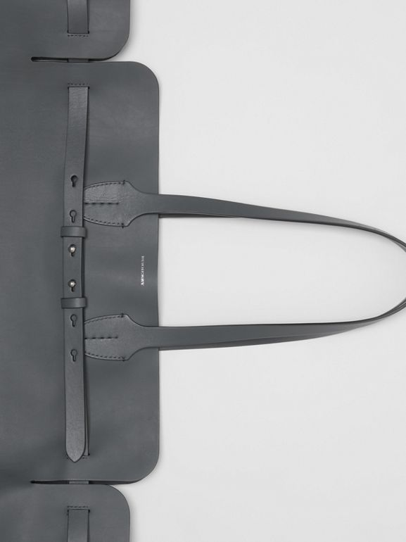 The Large Soft Leather Belt Bag in Dark Pewter Grey - Women | Burberry Australia - cell image 1