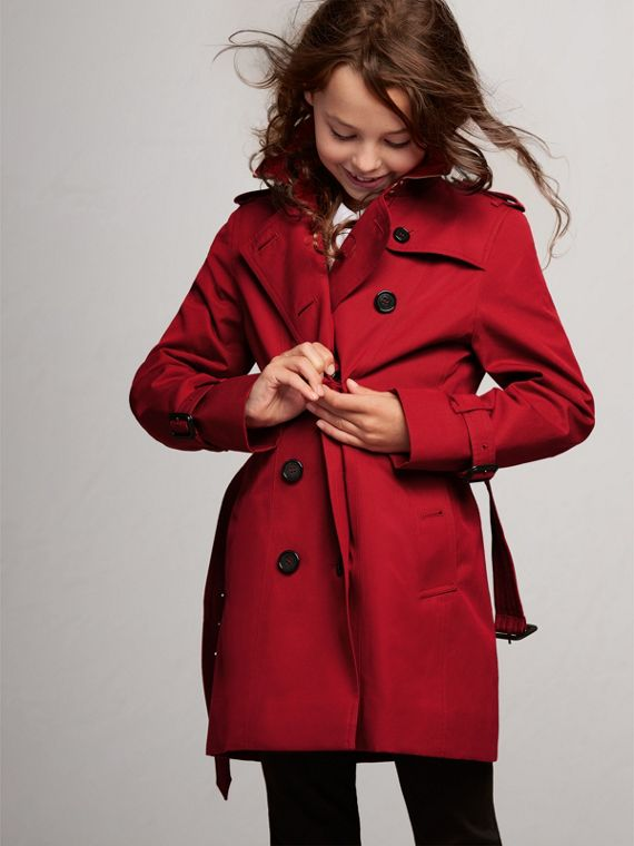 The Sandringham Trench Coat in Parade Red - Girl | Burberry - cell image 2