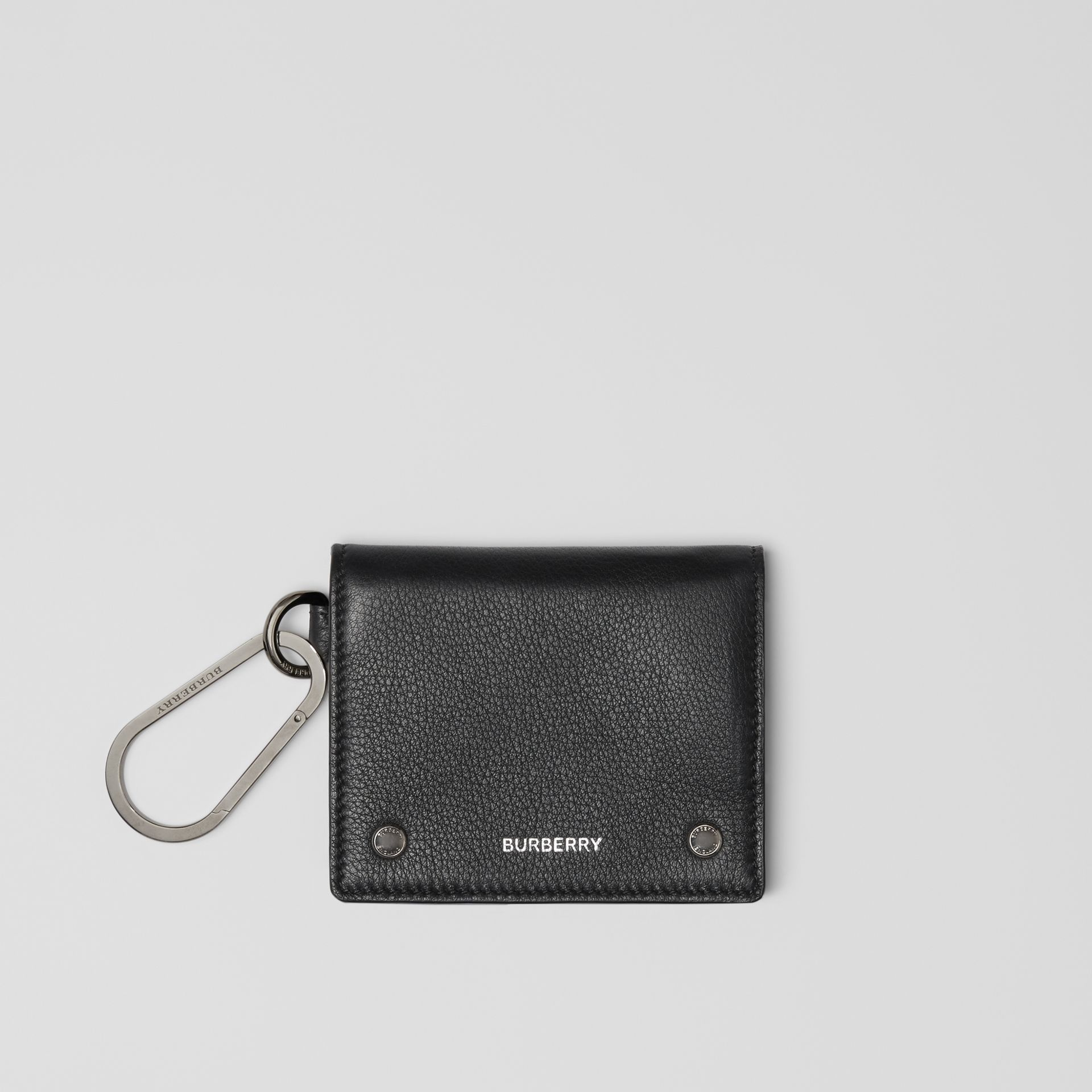 Grainy Leather Trifold Wallet in Black - Men | Burberry - gallery image 0
