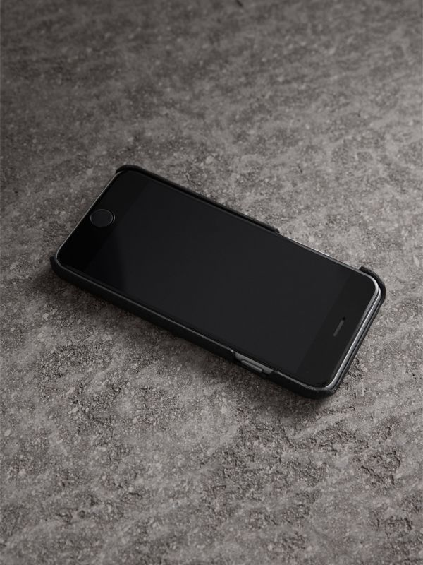 London Leather iPhone 7 Case in Black | Burberry - cell image 2