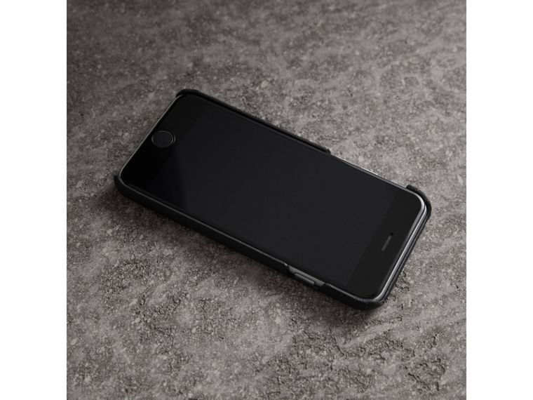 London Leather iPhone 7 Case in Black - Women | Burberry - cell image 2