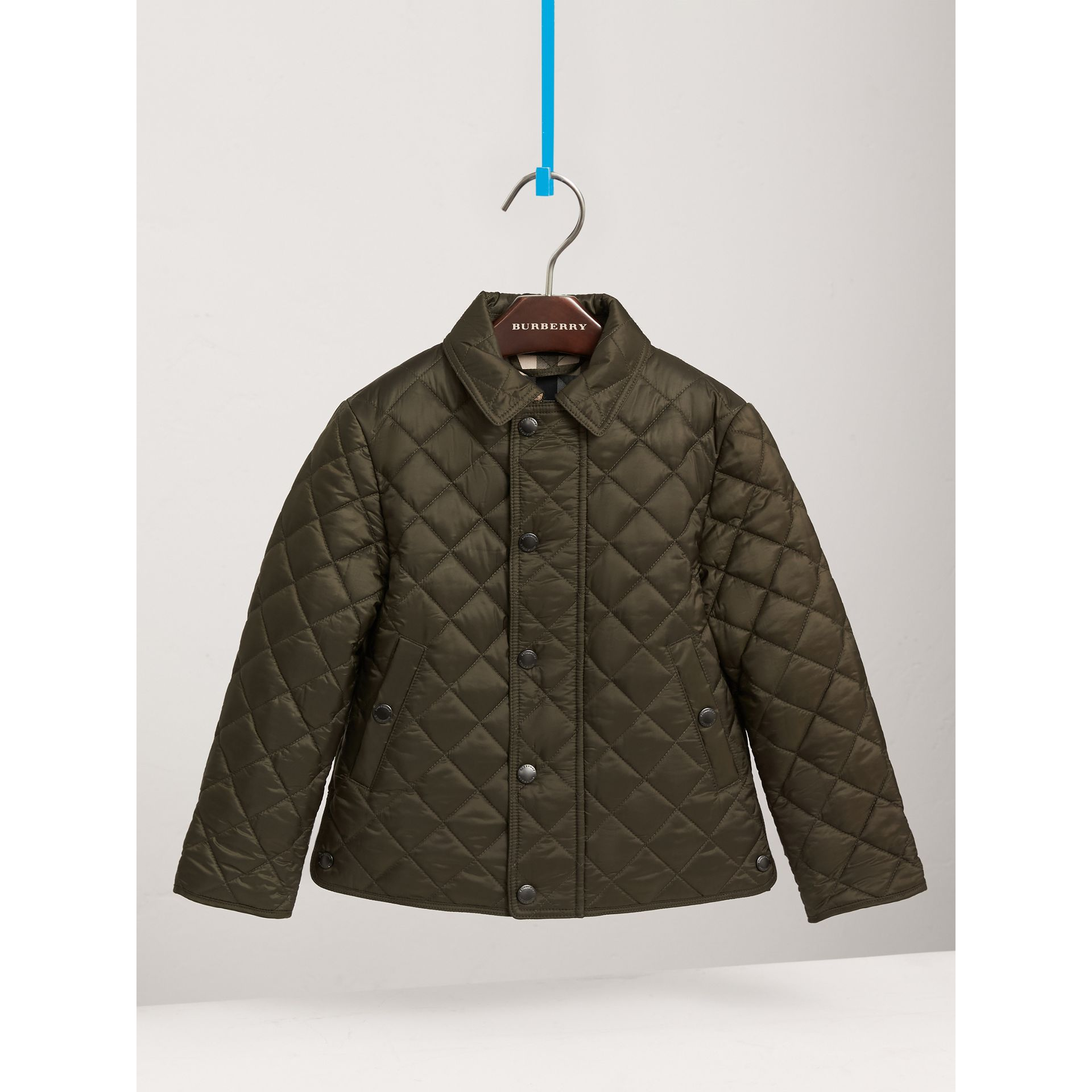 Diamond Quilted Jacket in Olive - Boy | Burberry United States - gallery image 2