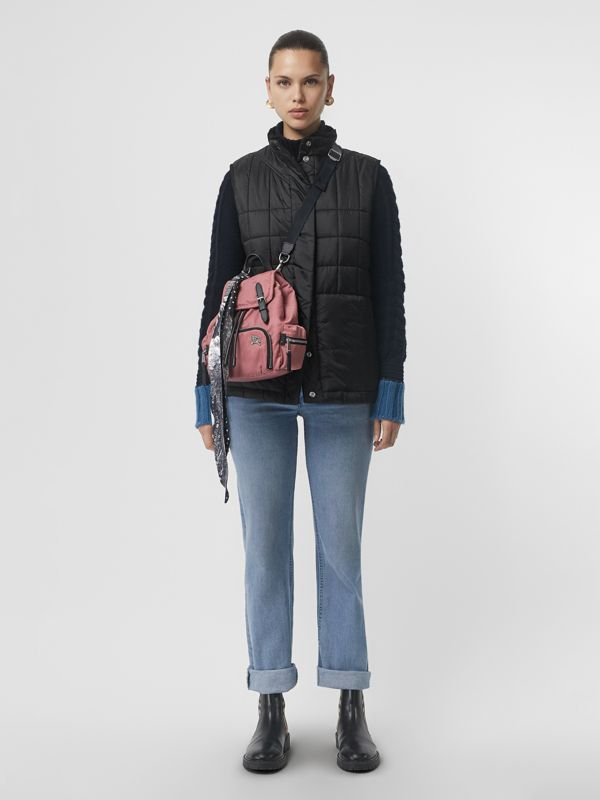 The Small Crossbody Rucksack in Puffer Nylon in Mauve Pink - Women | Burberry - cell image 2