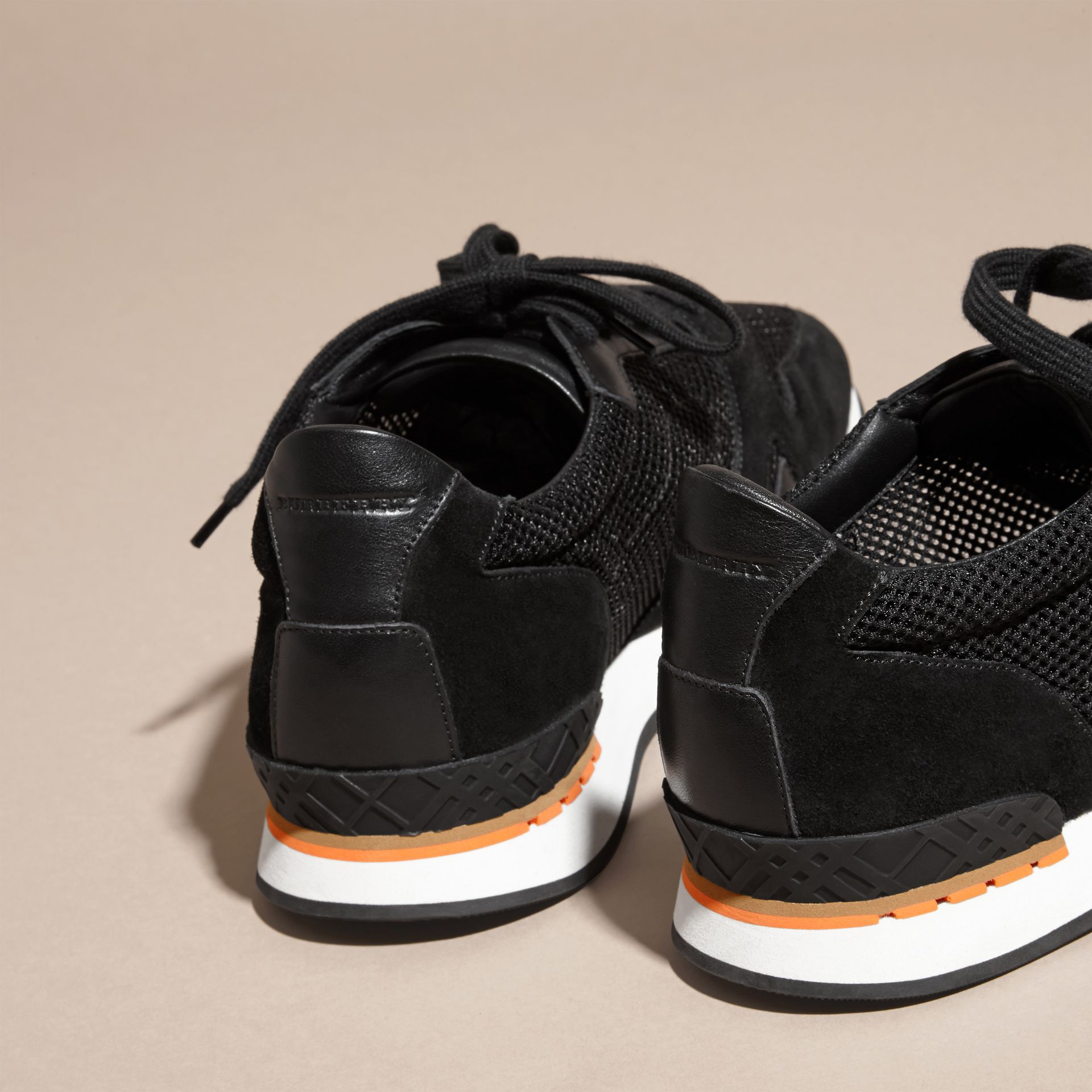 Black The Field Sneaker in Suede and Mesh Black - gallery image 4