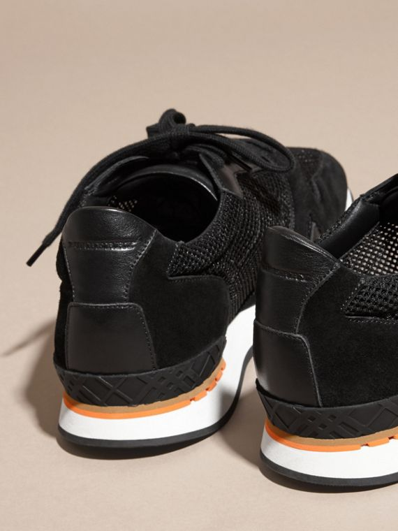 Black The Field Sneaker in Suede and Mesh Black - cell image 3