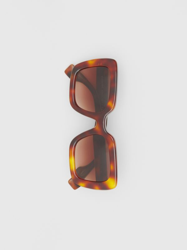 Oversized Square Frame Sunglasses in Tortoiseshell - Women | Burberry Hong Kong S.A.R - cell image 2