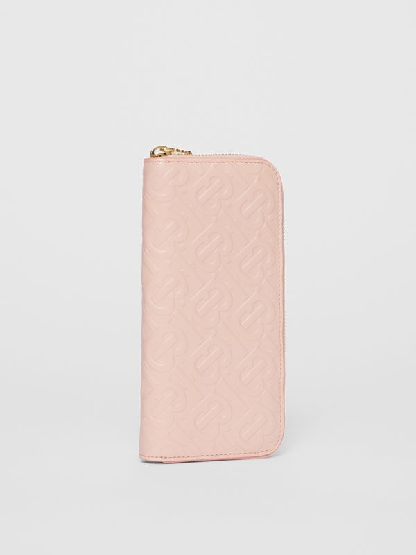 Monogram Leather Ziparound Wallet in Rose Beige - Women | Burberry - cell image 3