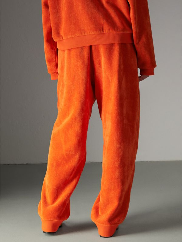 Archive Logo Towelling Sweatpants in Tangerine - Women | Burberry Australia - cell image 2