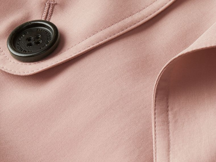 Chalk pink Lightweight Slub Silk Wrap Trench Coat - cell image 1