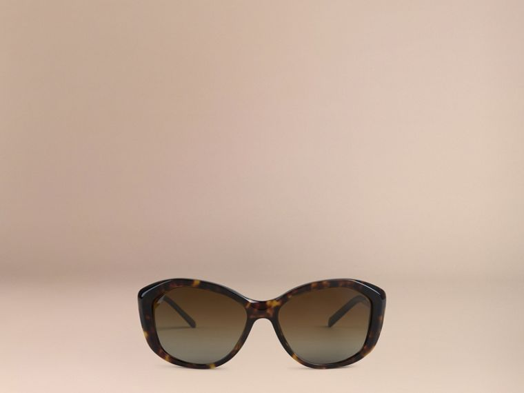 Gabardine Lace Collection Square Frame Sunglasses in Tortoise Shell - cell image 1