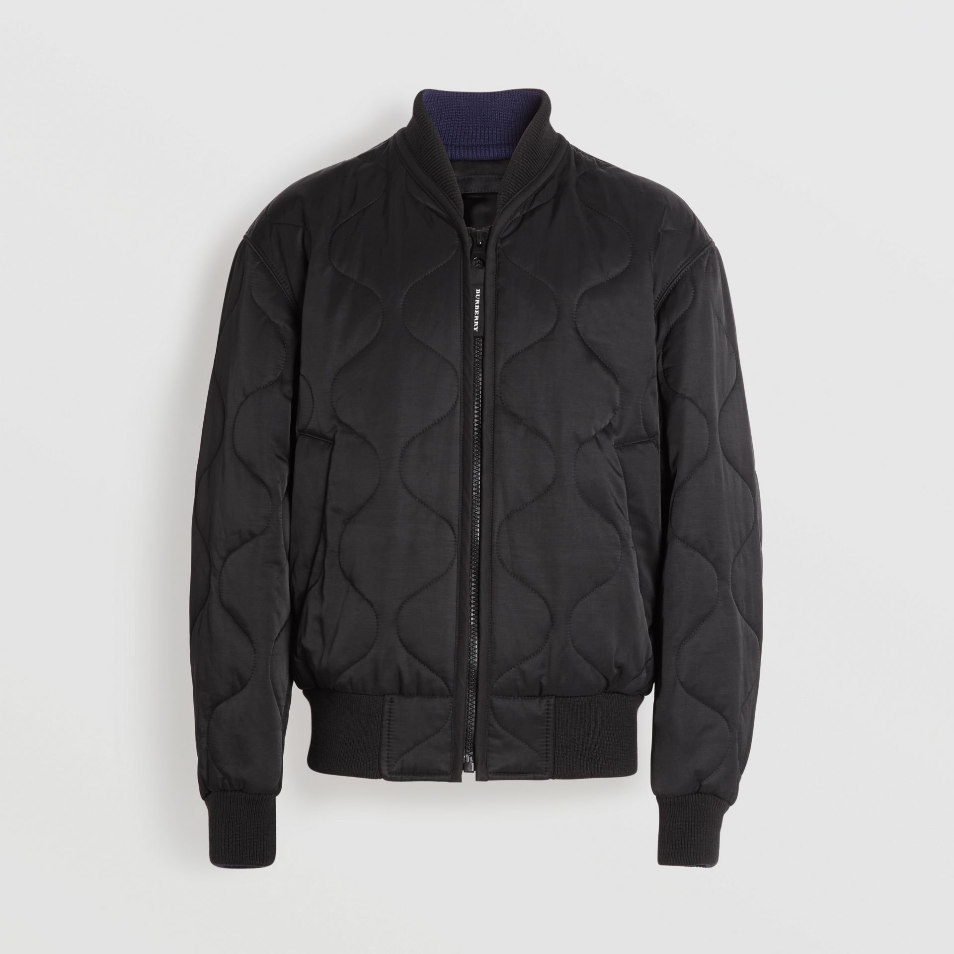 Quilted Bomber Jacket in Black - Men | Burberry - gallery image 3