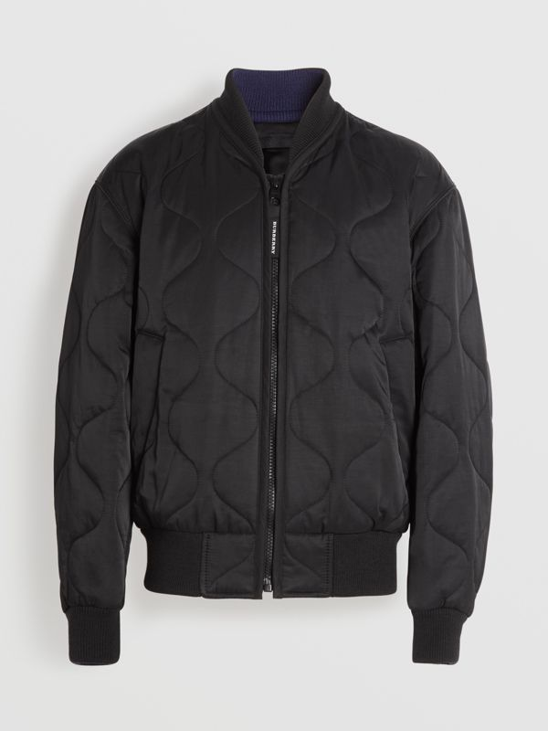 Quilted Bomber Jacket in Black - Men | Burberry - cell image 3