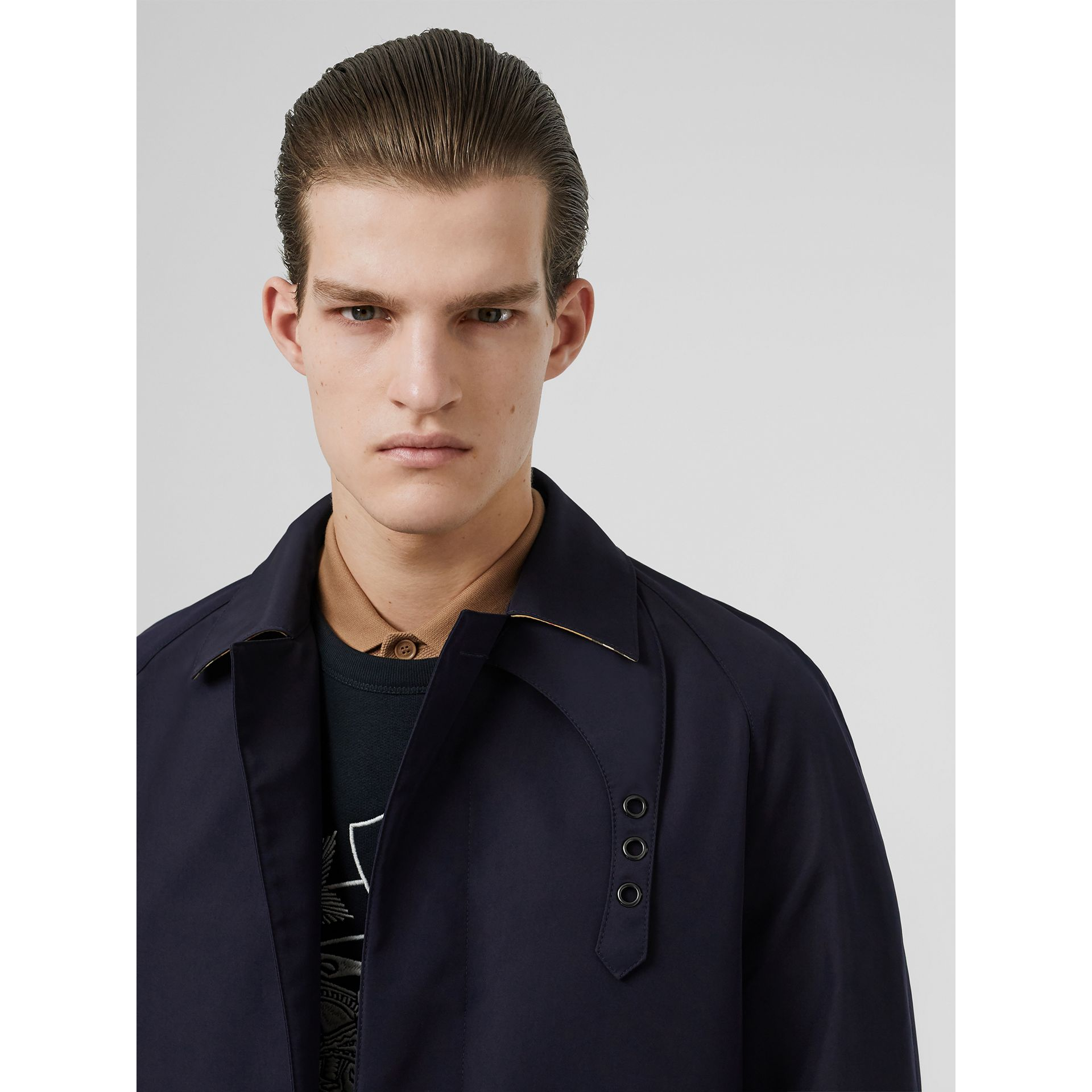 Bonded Car Coat with Warmer in Navy - Men | Burberry - gallery image 1