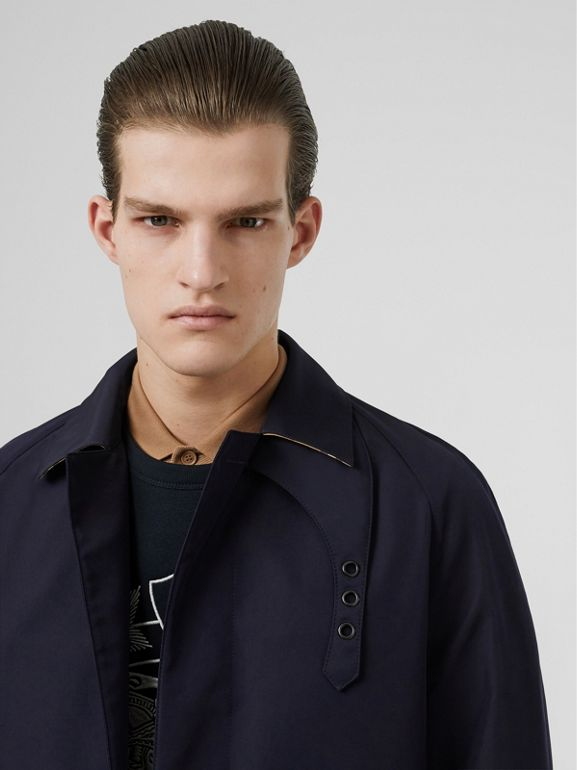 Bonded Car Coat with Warmer in Navy - Men | Burberry - cell image 1