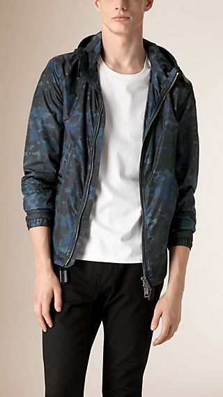 Camouflage Technical Blouson with Hood