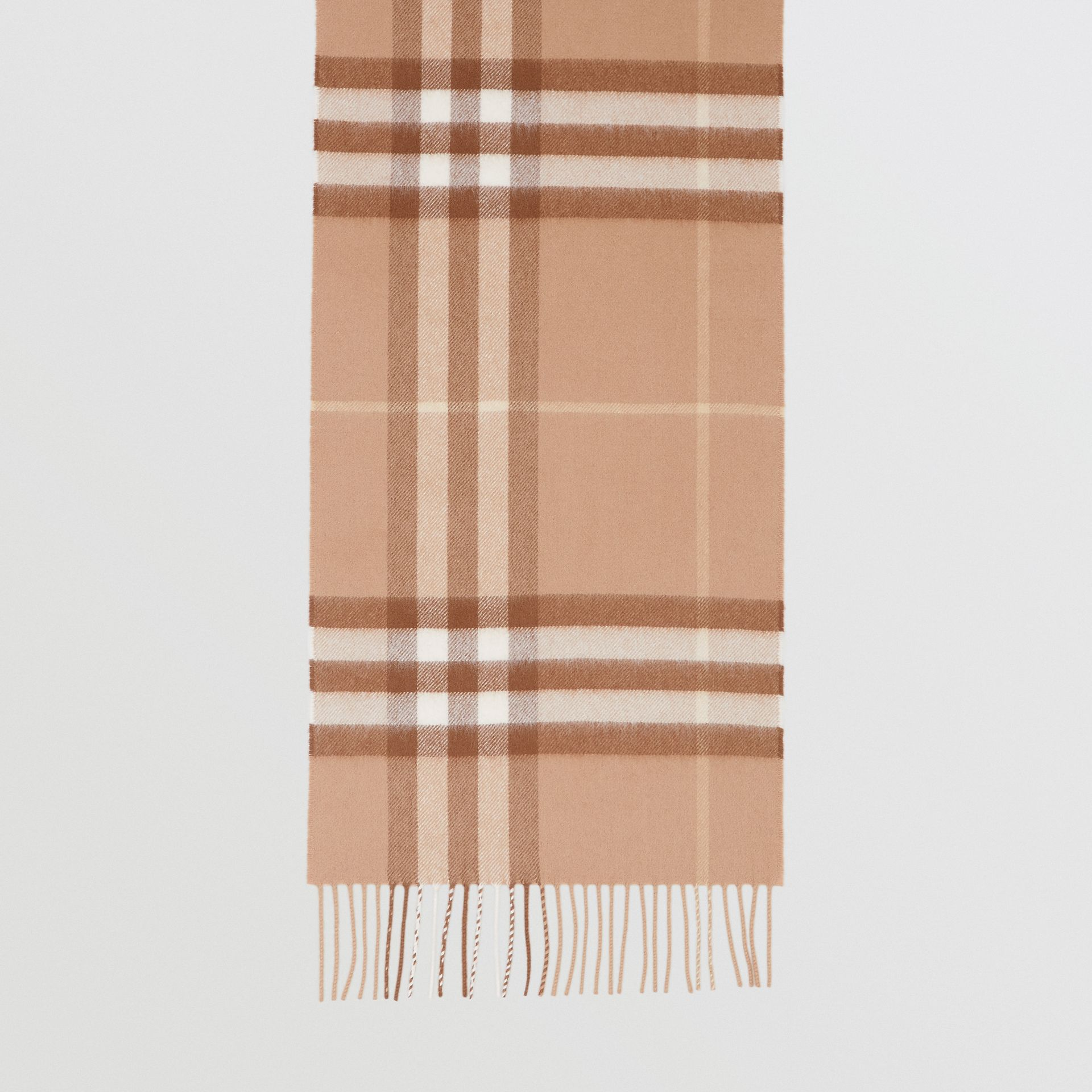 The Classic Check Cashmere Scarf in Mid Camel | Burberry Hong Kong S.A.R - gallery image 4