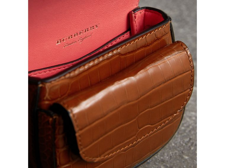 The Pocket Satchel in Alligator in Tan - Women | Burberry - cell image 4