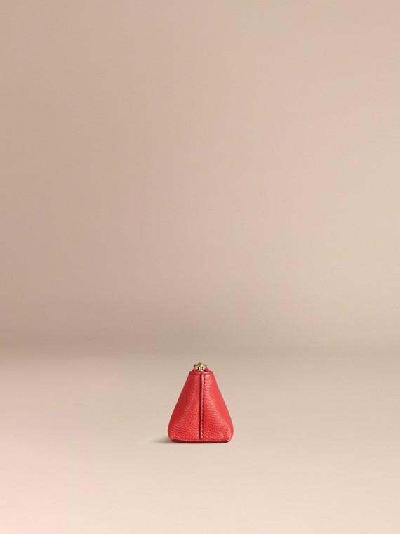 Rouge orangé Petite pochette pour accessoires numériques en cuir grainé Rouge Orangé - cell image 2
