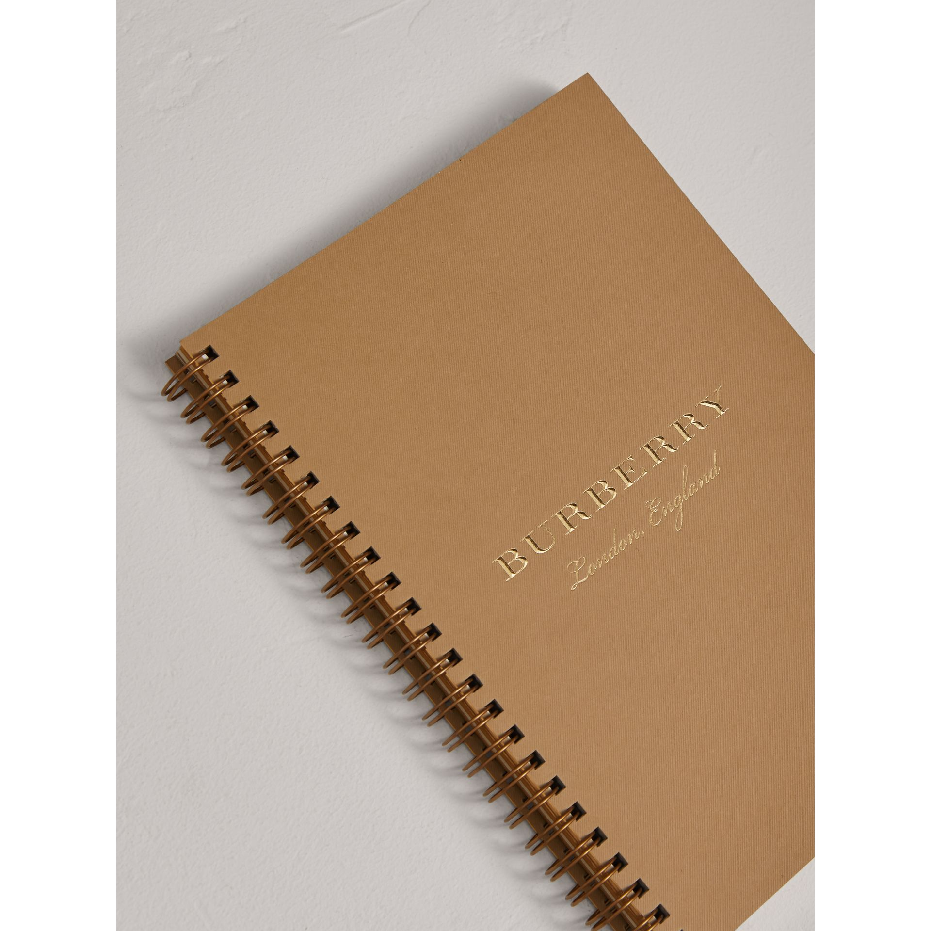 A5 Notebook Refill in Honey | Burberry United Kingdom - gallery image 2