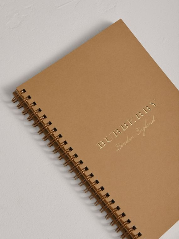 A5 Notebook Refill in Honey | Burberry United Kingdom - cell image 2