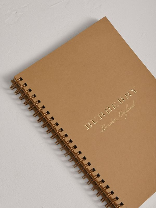 A5 Notebook Refill in Honey | Burberry Singapore - cell image 2