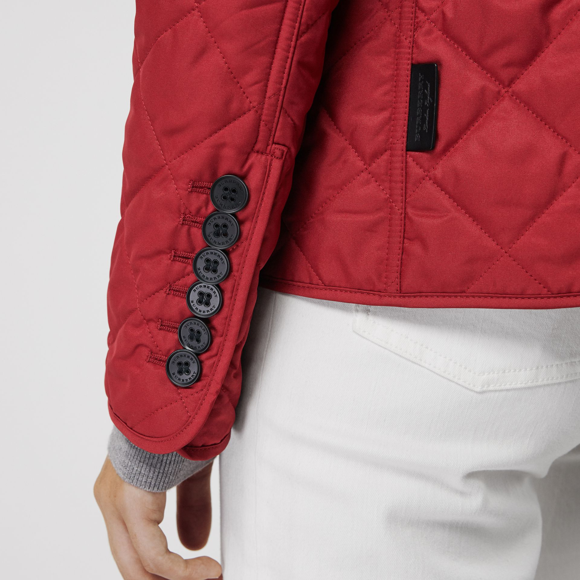 Diamond Quilted Jacket in Parade Red | Burberry - gallery image 4