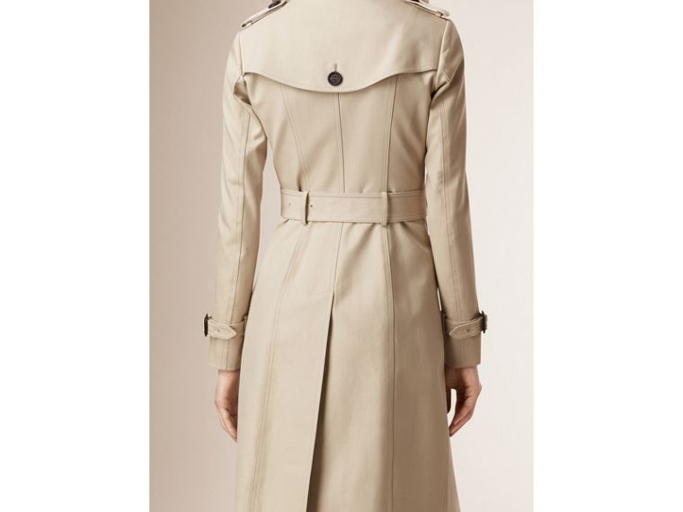 Cotton Gabardine Trench Coat in Stone - cell image 1