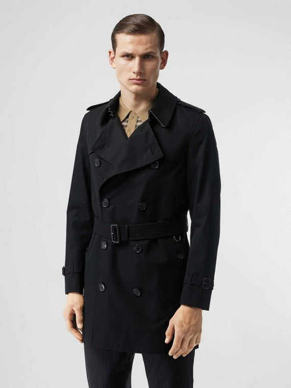 The Short Wimbledon Trench Coat in Black