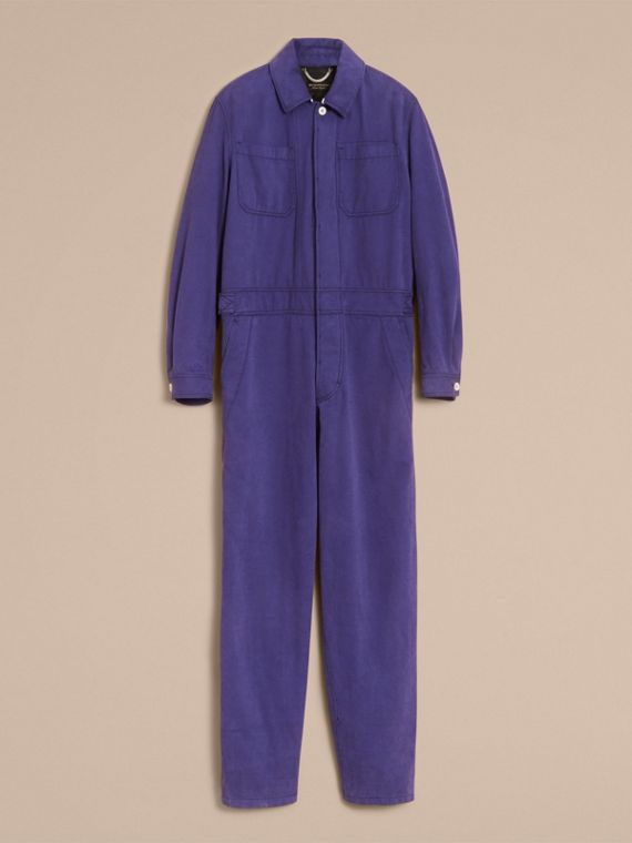 Cotton Artist Overalls in Mid Indigo - Men | Burberry - cell image 3