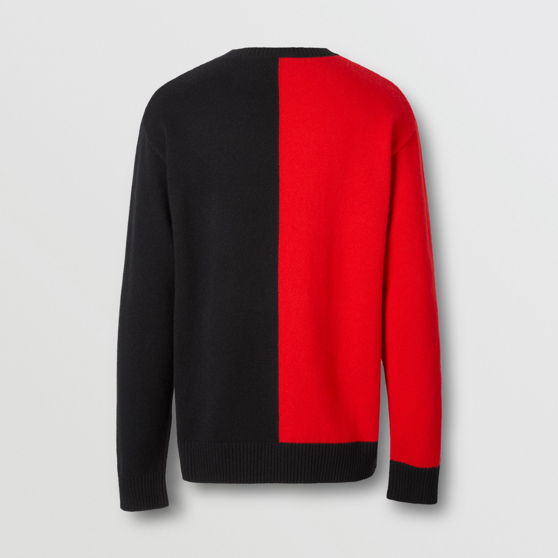 Contrast Logo Graphic Intarsia Cashmere Sweater in Black - Men | Burberry - gallery image 5