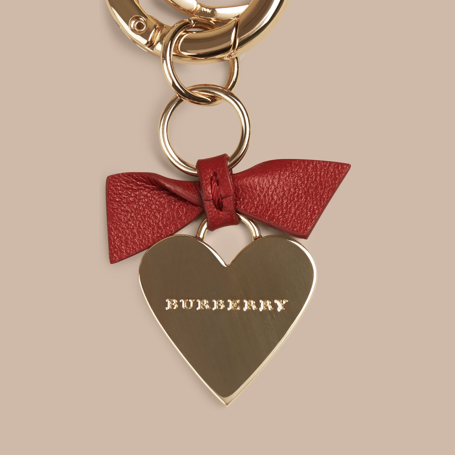 Parade red Heart Key Charm - gallery image 2