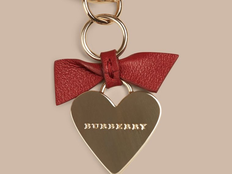 Parade red Heart Key Charm - cell image 1