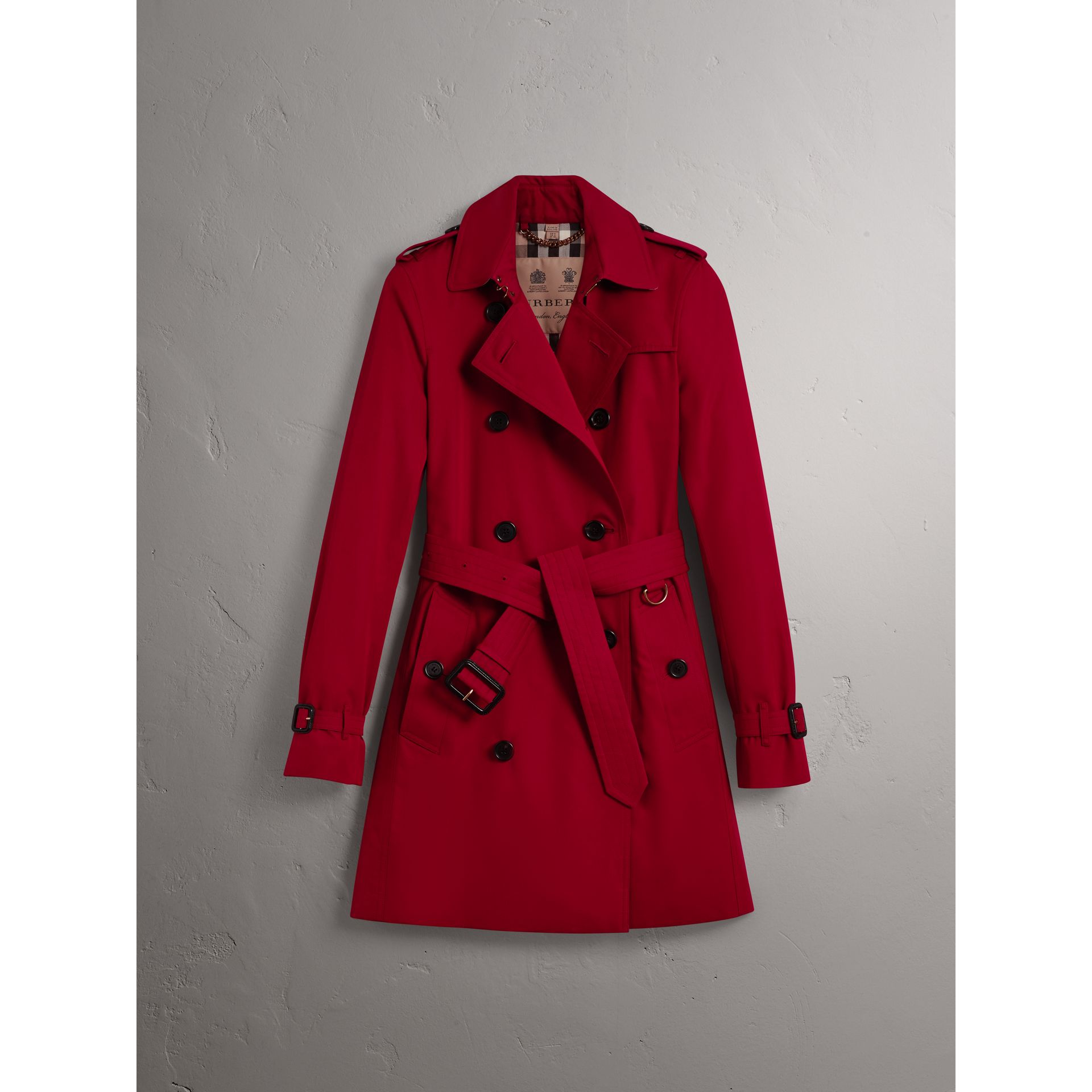 The Kensington – Mid-length Trench Coat in Parade Red - Women | Burberry Canada - gallery image 3