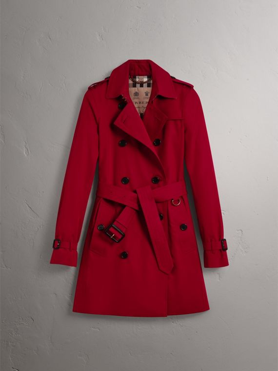 The Kensington – Mid-Length Heritage Trench Coat in Parade Red - Women | Burberry Singapore - cell image 3