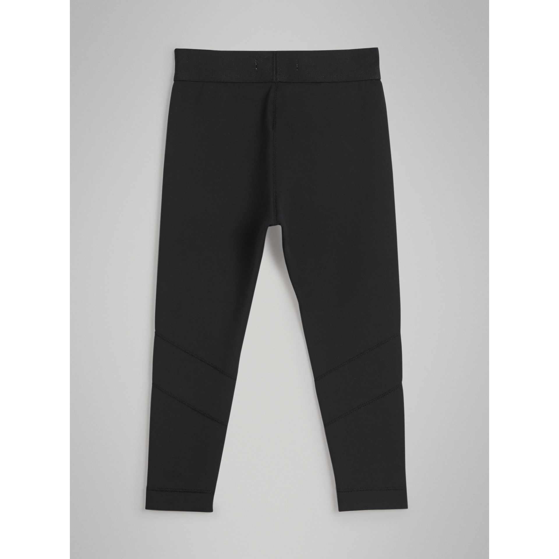 Logo Stretch Jersey Leggings in Black - Girl | Burberry - gallery image 3