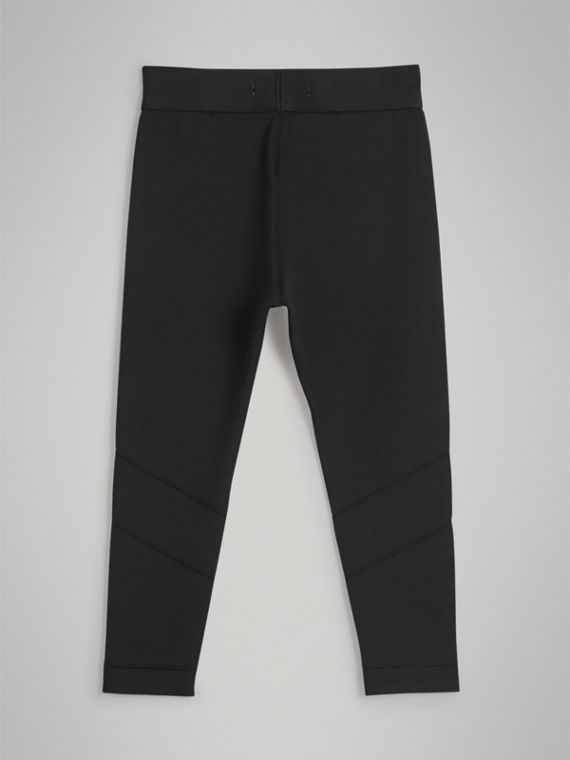 Logo Stretch Jersey Leggings in Black - Girl | Burberry - cell image 3