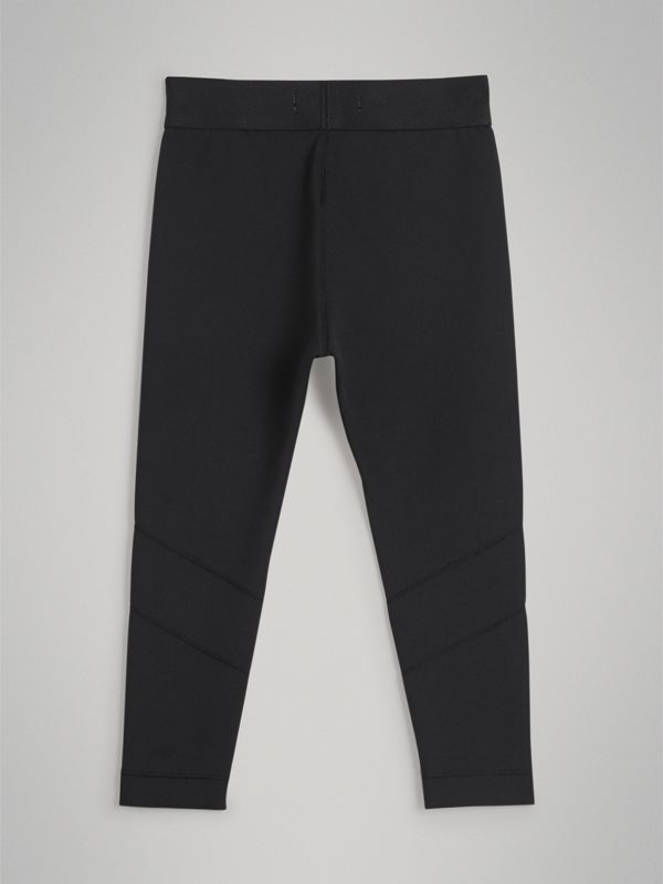 Logo Stretch Jersey Leggings in Black | Burberry - cell image 3