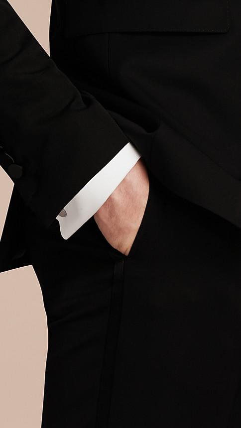 Black Satin Lapel Tuxedo Jacket - Image 5