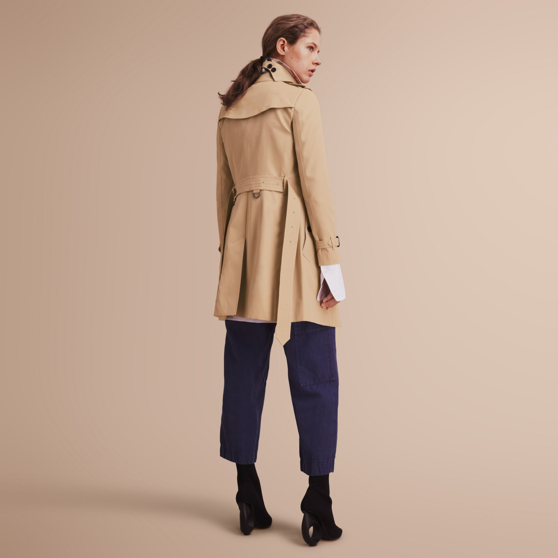 The Chelsea – Mid-length Heritage Trench Coat in Honey - gallery image 3