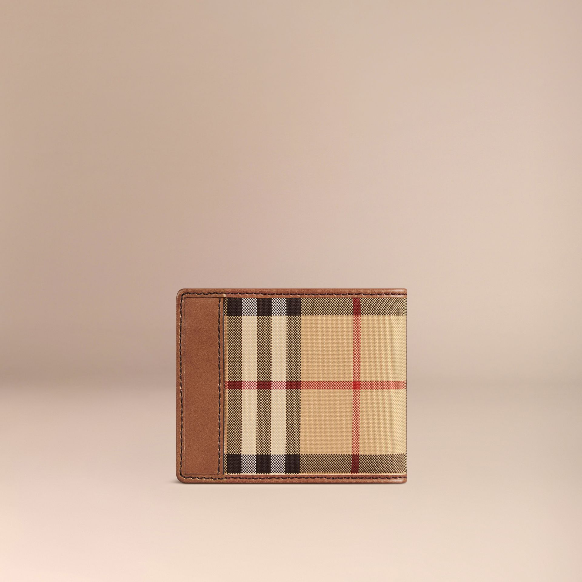 Horseferry Check ID Wallet Tan - gallery image 3