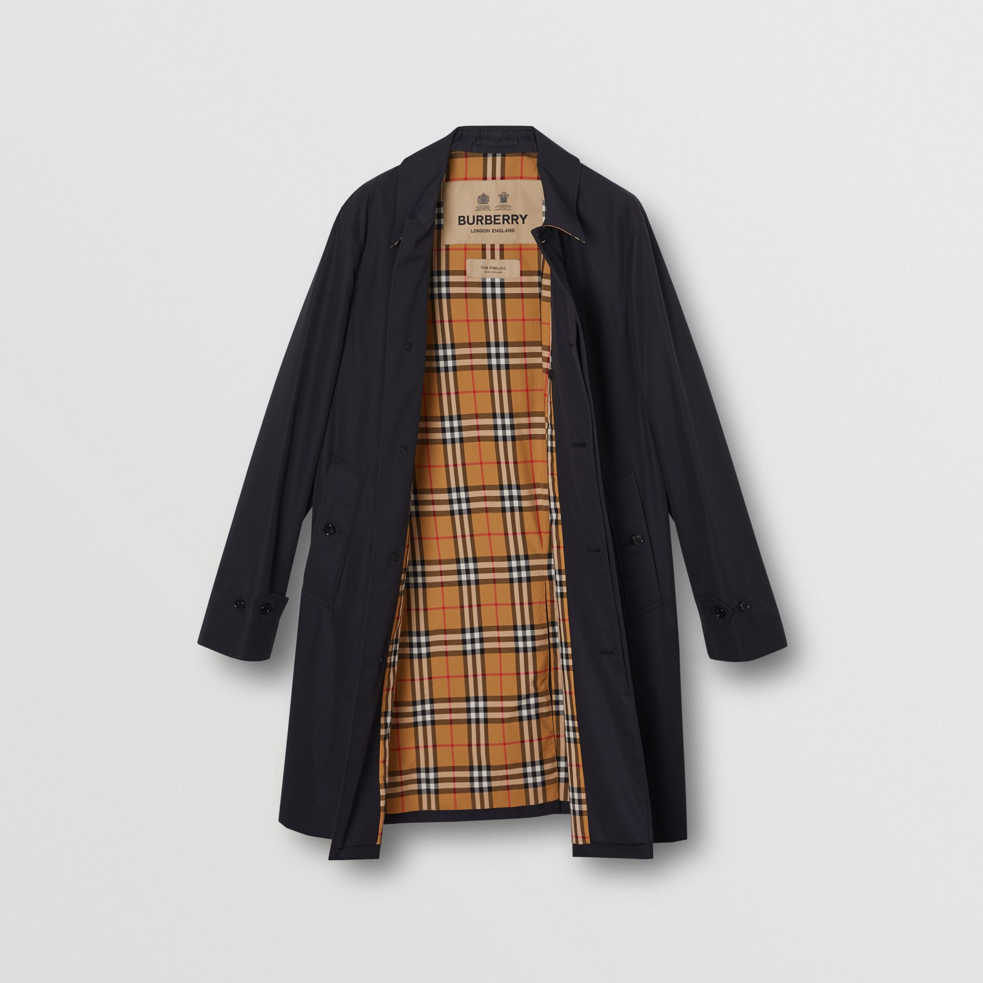 The Pimlico Car Coat in Midnight - Men | Burberry - gallery image 7